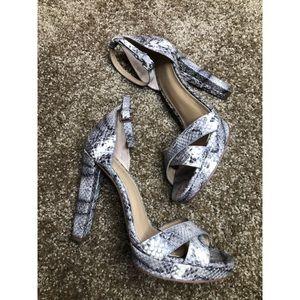 Michael by Michael Kors leather snakeskin heels